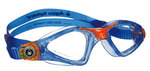 Kayenne Jr - Clear Lens - Trans Blue Frame with Orange Accents