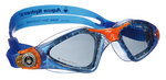 Kayenne Jr - Smoke Lens - Trans Blue Frame with Orange Accents