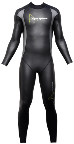 Aqua Skin Full Suit, Men - Black with Grey - XL picture