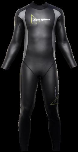 Aqua Skin Full Suit, Men - Black with Grey - XL picture