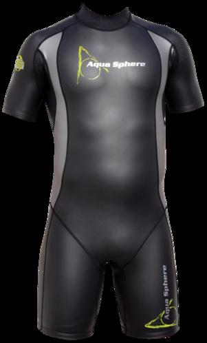 "Aqua Skin ""Shorty"" - Men, Temp 65F+ Black with Grey - SM picture"