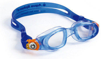 Moby Kid - Clear Lens - Trans Blue Frame with Orange Accents picture
