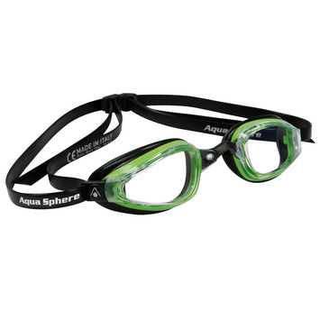 K180+ - Clear Lens - Black Frame with Green Accents picture