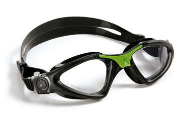 Kayenne Regular Fit - Clear Lens - Black Frame with Green Accents picture