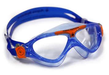 Vista Jr - Clear Lens - Trans Blue Frame with Orange Accents picture