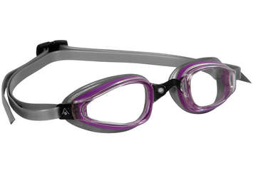 K180+ Ladies - Clear Lens - Silver Frame with Purple Accents picture