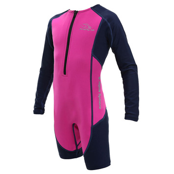 Stingray HP Core Wormer L/S - Pink & Navy Blue - 10Y picture