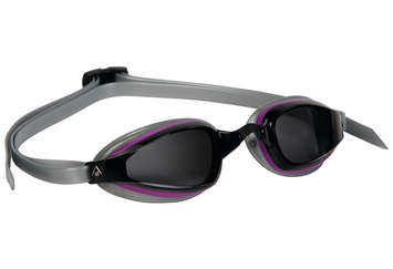 K180+ Ladies - Smoke Lens - Silver Frame with Purple Accents picture