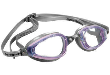 K180 Ladies - Clear Lens - Silver Frame with Pink Accents picture