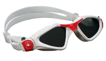 Kayenne Ladies - Smoke Lens - White Frame with Coral Accents picture