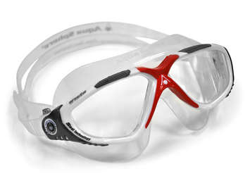 Vista - Clear Lens - White Frame with Red and Gray Accents picture
