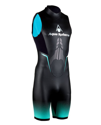 "Aqua Skin ""Shorty"" - Men, Temp 65F+ Black with Grey -XXL picture"