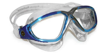 Vista - Clear Lens - Aqua+Blue Frame with Silver accents picture
