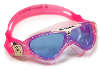 Vista Jr - Blue Lens - Trans Pink Frame with White Accents picture