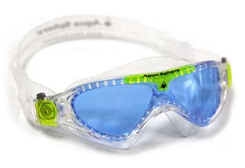 Vista Jr - Blue Lens - Translucent Frame with Lime Accents picture