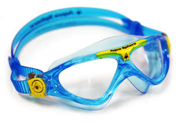 Vista Jr - Clear Lens - Trans Blu Frame with Yellow Accents picture