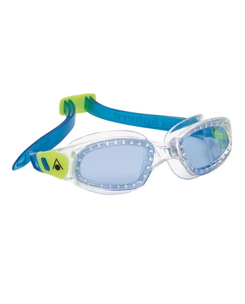 Kameleon Kid - Blue Lens - Transparent Frame with Green/Blue Accents picture