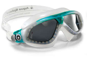Seal XP Ladies - Smoke Lens - Pearl Frame with Aqua Accents picture