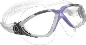 Vista Ladies - Clear Lens - White Frame with Lavender Accents picture
