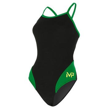 Team Suit - Women - Mid Back - Splice - Black/Green picture