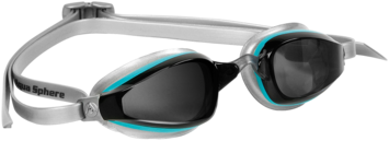 K180 Ladies - Smoke Lens - Silver Frame with Aqua Accents picture