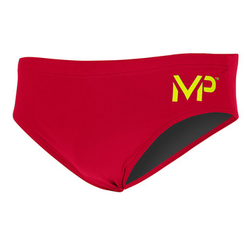 Team Suit - Men 3in Brief - Solid - Red picture