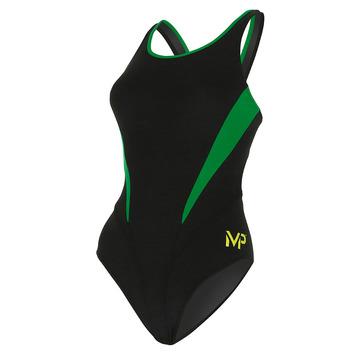 Team Suit - Women - Comp Back - Splice - Black/Green picture