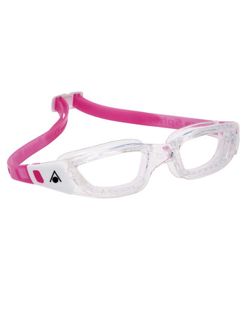 Kameleon Jr - Clear Lens - Transparent Frame with White/Pink Accents picture