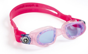 Moby Kid - Blue Lens - Trans Pink Frame with Lavender Accents picture