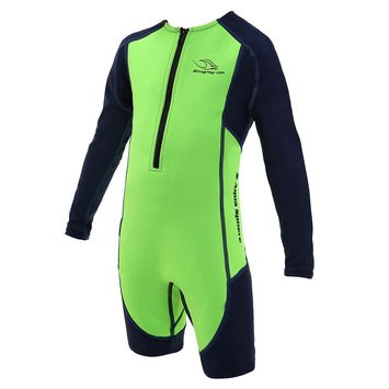 Stingray HP Core Wormer L/S - Bright Green & Navy Blue - 2Y picture