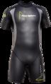 "Aqua Skin ""Shorty"" - Men, Temp 65F+ Black with Grey -XXL"