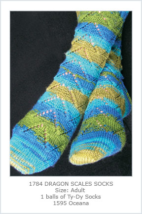 1784 Dragon Scales Socks picture