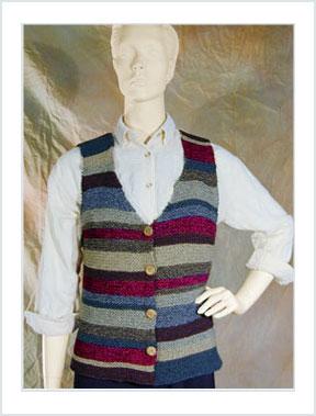 1120 Cotton Striped Vest picture