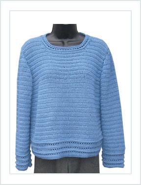 1289 Mini Windows Crochet Pullover picture