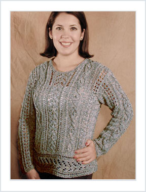 1124 Lacy Aran Pullover picture