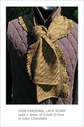 1658 Diagonal Lace Scarf-Digital picture