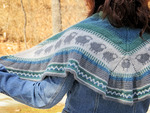Sheep Shawlette Kit - Blue