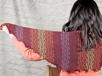 2262 Reversible Pathways Shawl picture