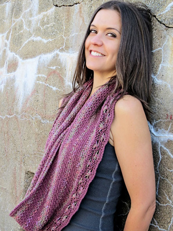 2220 Woven Flowers Infinity Scarf-Digital picture