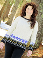 2258 Winter Pansies Pullover-Digital