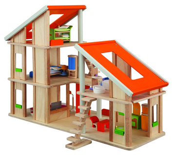 Chalet Dollhouse With Furniture picture