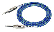 Kirlin 10FT FABRIC CABLE - BLUE
