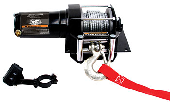 3000lb ATV Winch with Mini-Rocker Switch, Mounting Channel, Roller Fairlead picture