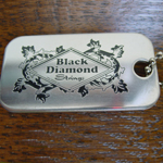 Black Diamond Stainless Dog Tag picture