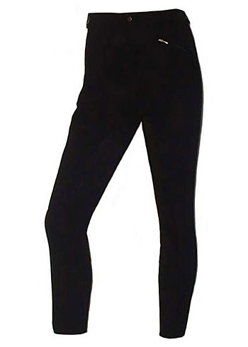 Colette BLACK Regular Rise 4-Way Stretch, Simple Narrow Rib Fullseat Breech with Synthetic Leather picture