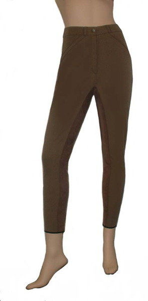 Rachel SAGE Regular Rise 4-Way Stretch Cotton Fullseat Breech with Synthetic Leather picture