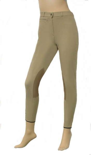 Jenny Regular Rise High-Tech CoolMax® Combination Knee-patch Breech with Synthetic Leather picture