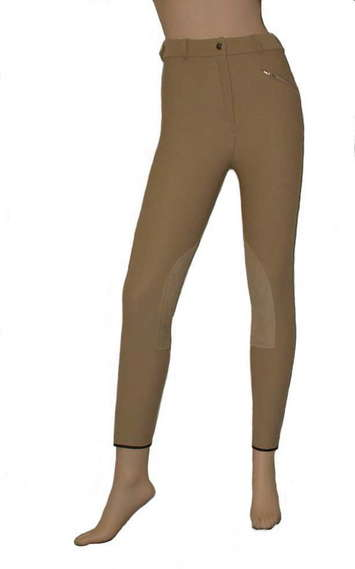 Renee Regular Rise High-Tech CoolMax® Combination Knee-patch Breech with Synthetic Leather picture
