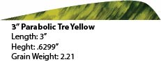 "3"" R/W Parabolic Tre Yellow picture"