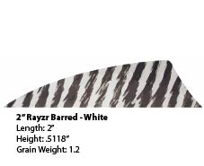 "2"" R/W Rayzr Barred White picture"